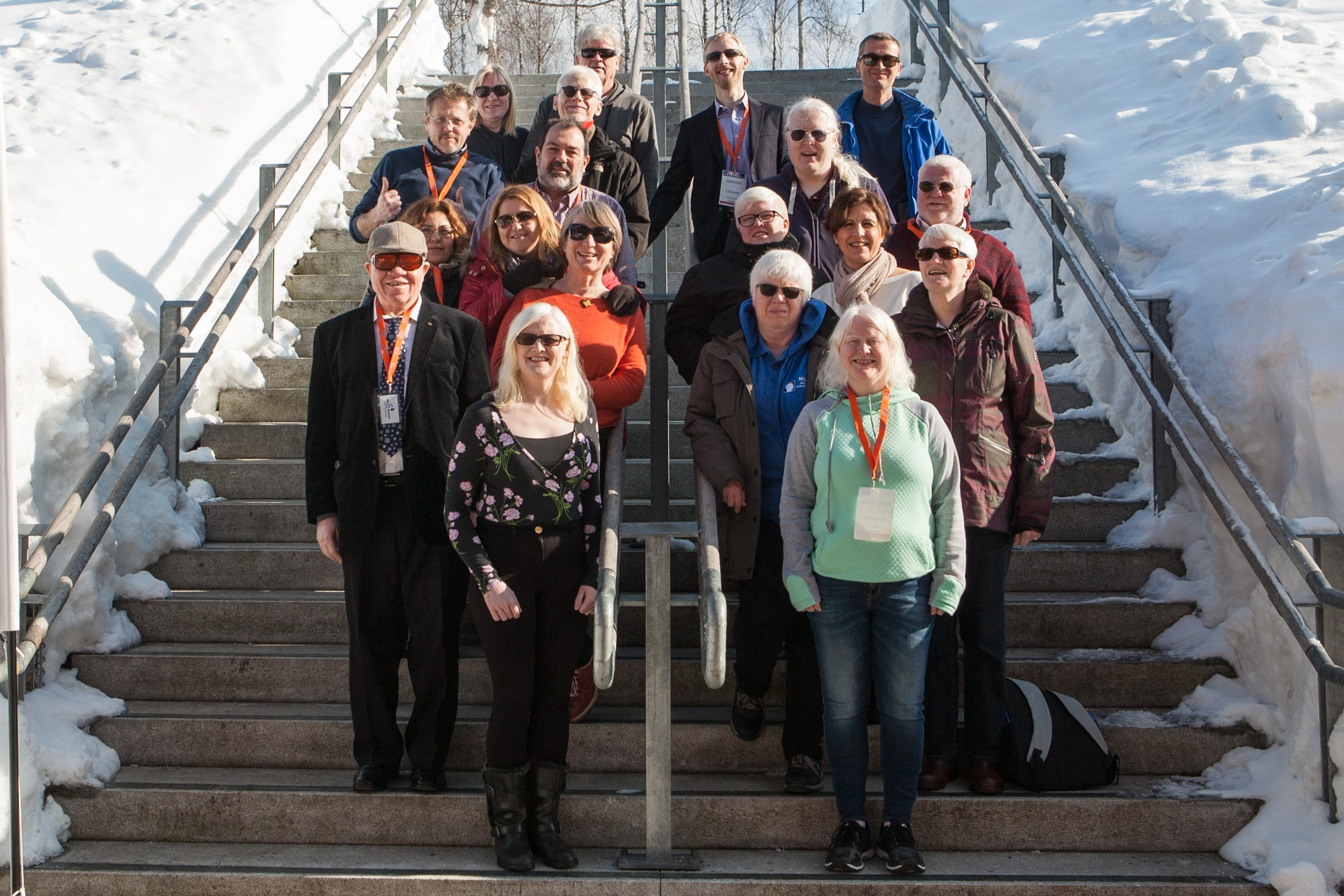Representatives from different European associations for people with albinism