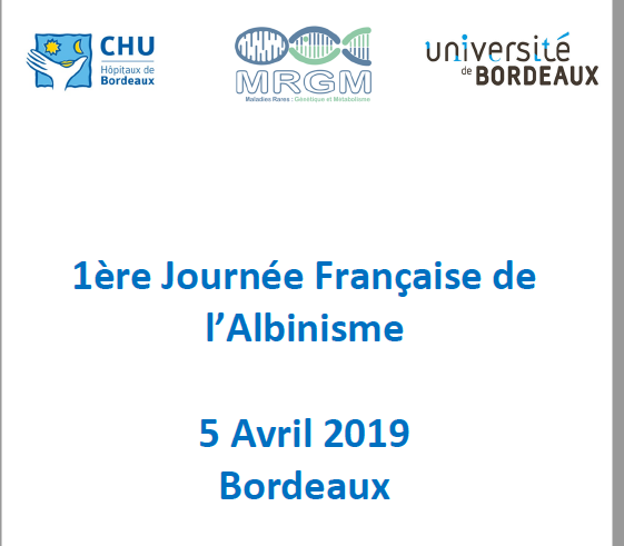 1st French scientific conference on albinism (2019) 1JFA